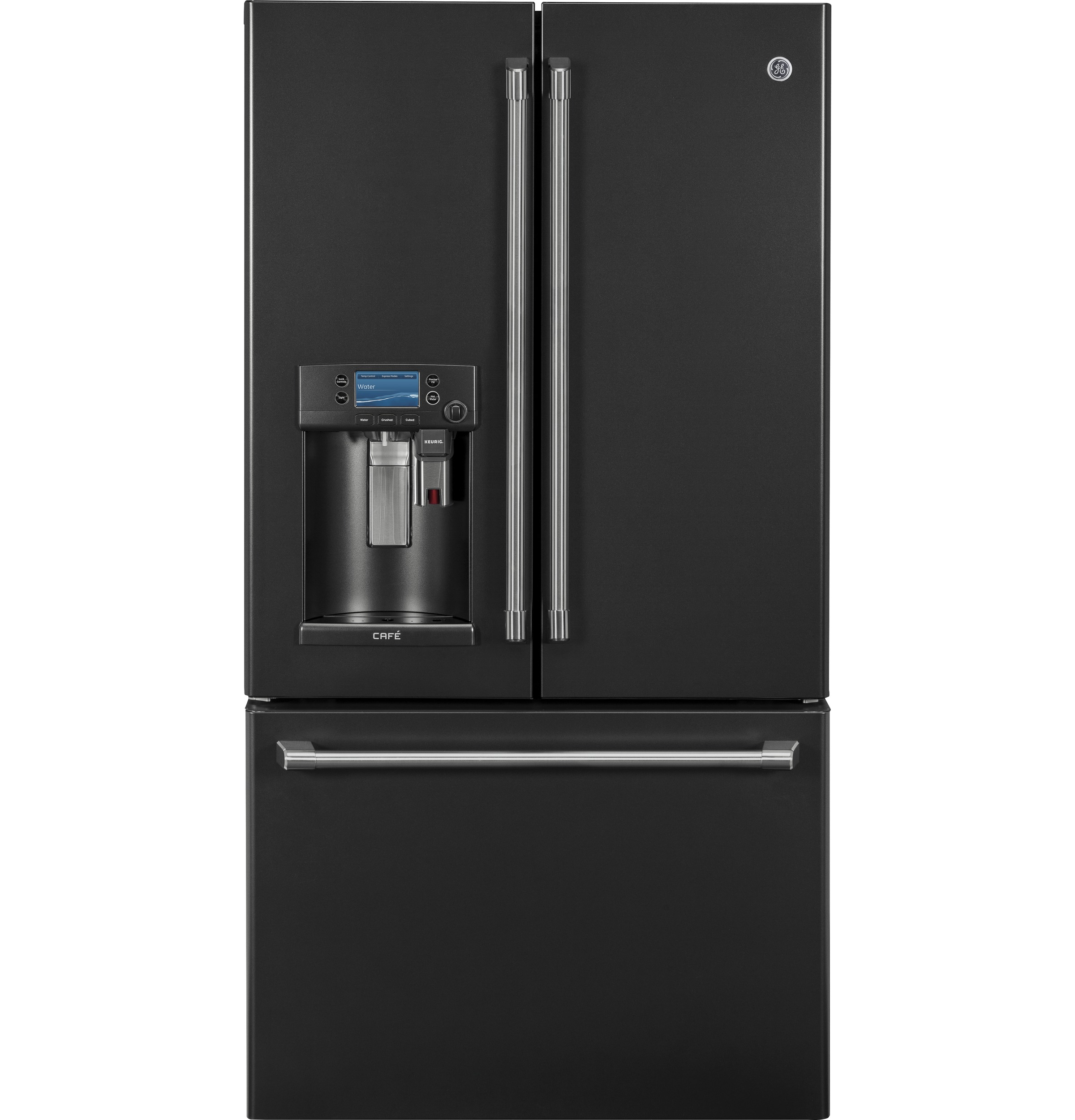 GE Café™ Series ENERGY STAR® 22.2 Cu. Ft. Counter-Depth French-Door Refrigerator with Keurig® K-Cup®