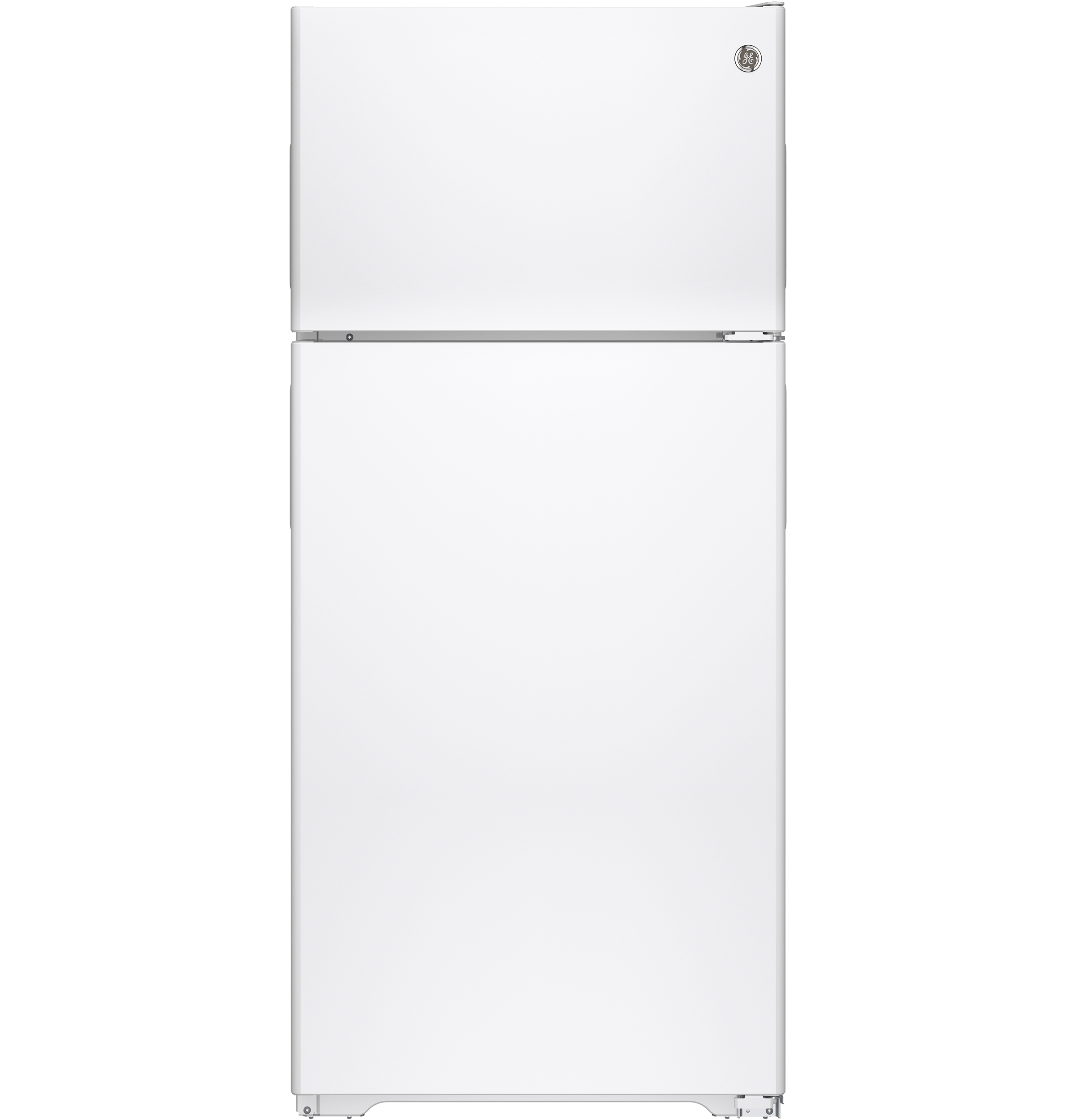 GE® ENERGY STAR® 15.5 Cu. Ft. Recessed Handle Top-Freezer Refrigerator