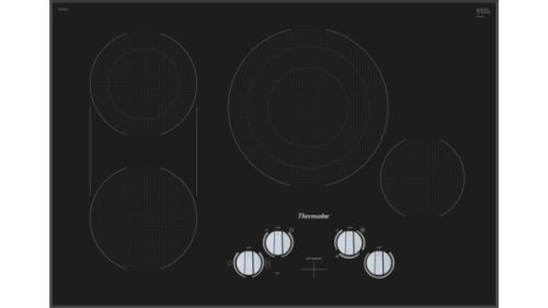 Model: CEM305TB | Thermador 30-Inch Masterpiece® Electric Cooktop CEM305TB