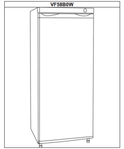 5.8 Cu. Ft. Vertical Freezer - White