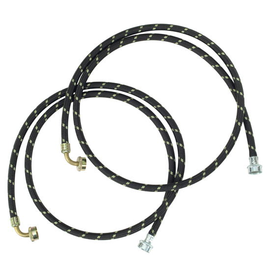 6' Gooseneck Nylon Braid Fill Hoses - 2 Pack