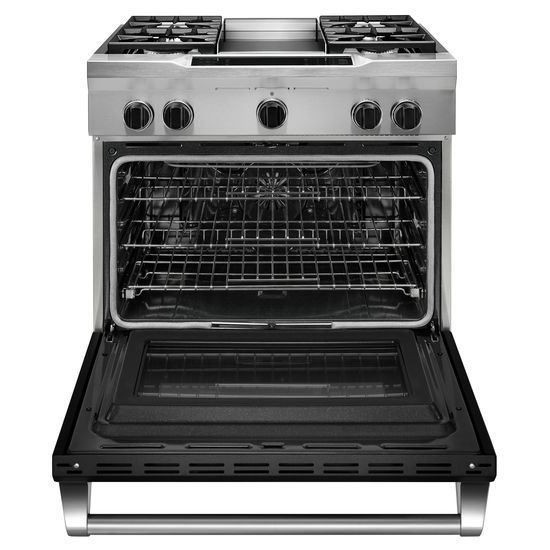 36'' 4-Burner with Griddle, Dual Fuel Freestanding Range, Commercial-Style