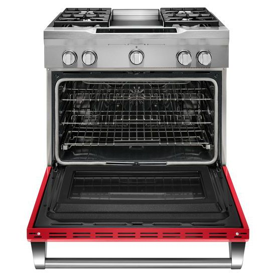 Model: KDRS463VSD | KitchenAid 36'' 4-Burner with Griddle, Dual Fuel Freestanding Range, Commercial-Style