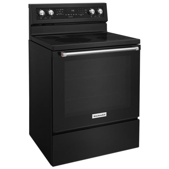 Model: KFEG500EBL | 30-Inch 5-Element Electric Convection Range