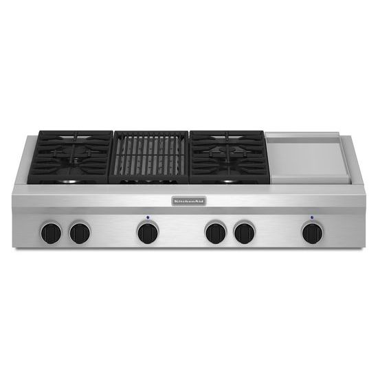 KitchenAid 48-Inch 4 Burner Gas Rangetop, Commercial-Style