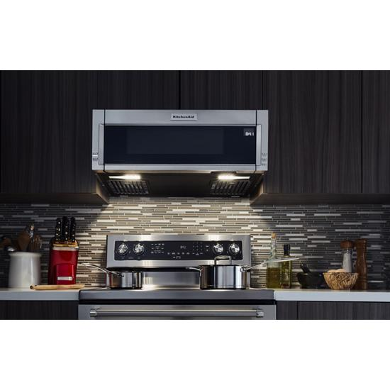 kitchenaid kmls311hss 1000 watt low profile microwave hood combination johnson 39 s appliance. Black Bedroom Furniture Sets. Home Design Ideas