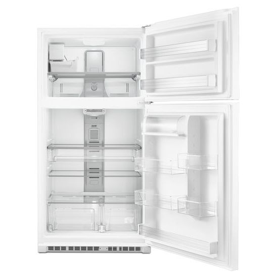 Model: MRT711SMFW | Maytag 33-Inch Wide Top Freezer Refrigerator with EvenAir™ Cooling Tower- 21 Cu. Ft.