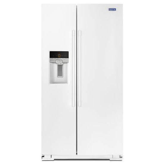 Maytag 36- Inch Wide Side-by-Side Refrigerator with External Ice and Water- 26 Cu. Ft.