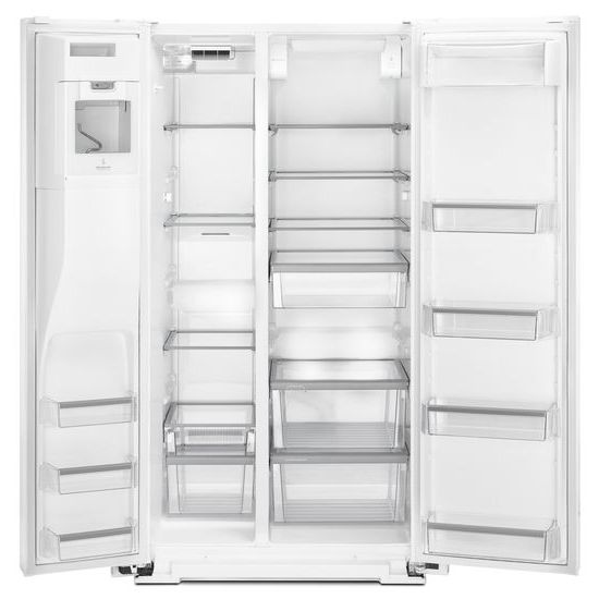 Model: MSS26C6MFW | Maytag 36- Inch Wide Side-by-Side Refrigerator with External Ice and Water- 26 Cu. Ft.