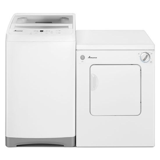 Model: NEC3120FW | Amana 3.4 Cu. Ft. Compact Dryer with Sensor Dry
