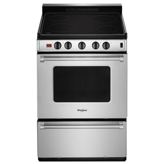24-inch Freestanding Electric Range with Upswept SpillGuard™ Cooktop