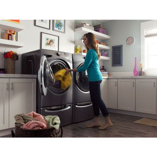 Model: WGD92HEFC | Whirlpool 7.4 cu.ft Front Load Gas Dryer with Advanced Moisture Sensing, EcoBoost™