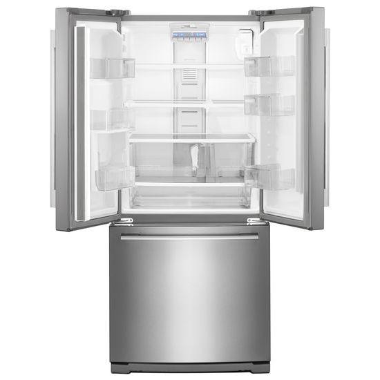 30 Inch Wide Contemporary Handle French Door Refrigerator   20 Cu. Ft.