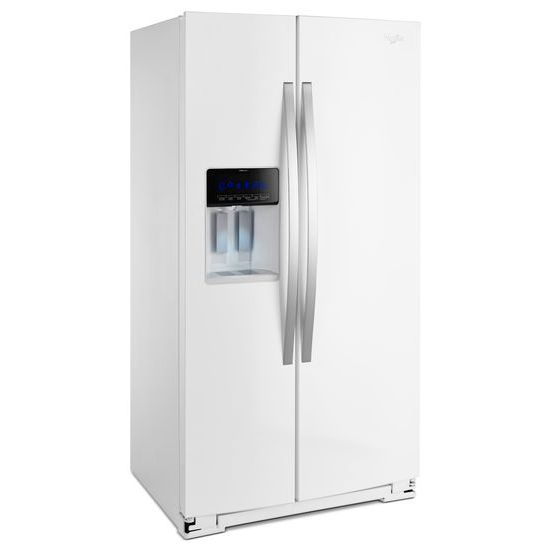 Model: WRS970CIDH | Whirlpool 36-inch Wide Side-by-Side Counter Depth Refrigerator with StoreRight™ - 20 cu. f