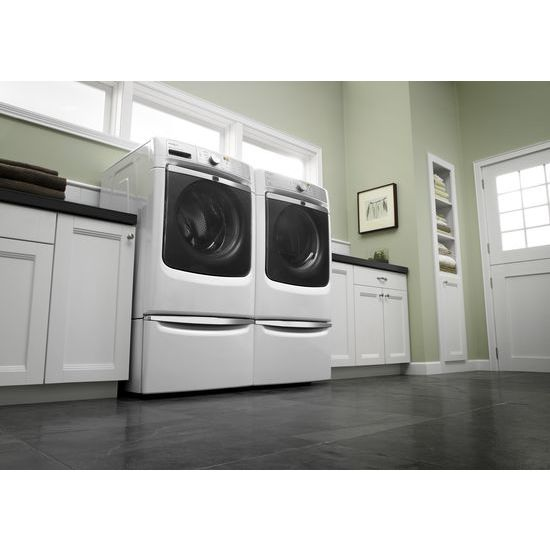 "Model: XHPC155XW | Laundry 123 15.5"" Pedestal for Front Load Washer and Dryer with Storage"