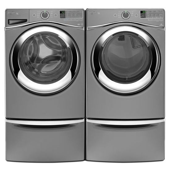 "Model: XHPC155YC | Laundry 123 15.5"" Pedestal for Front Load Washer and Dryer with Storage"