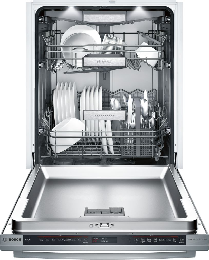 "Model: SHX89PW75N | Bosch Benchmark®24"" Bar Handle DishwasherSHX89PW75NStainless steel"