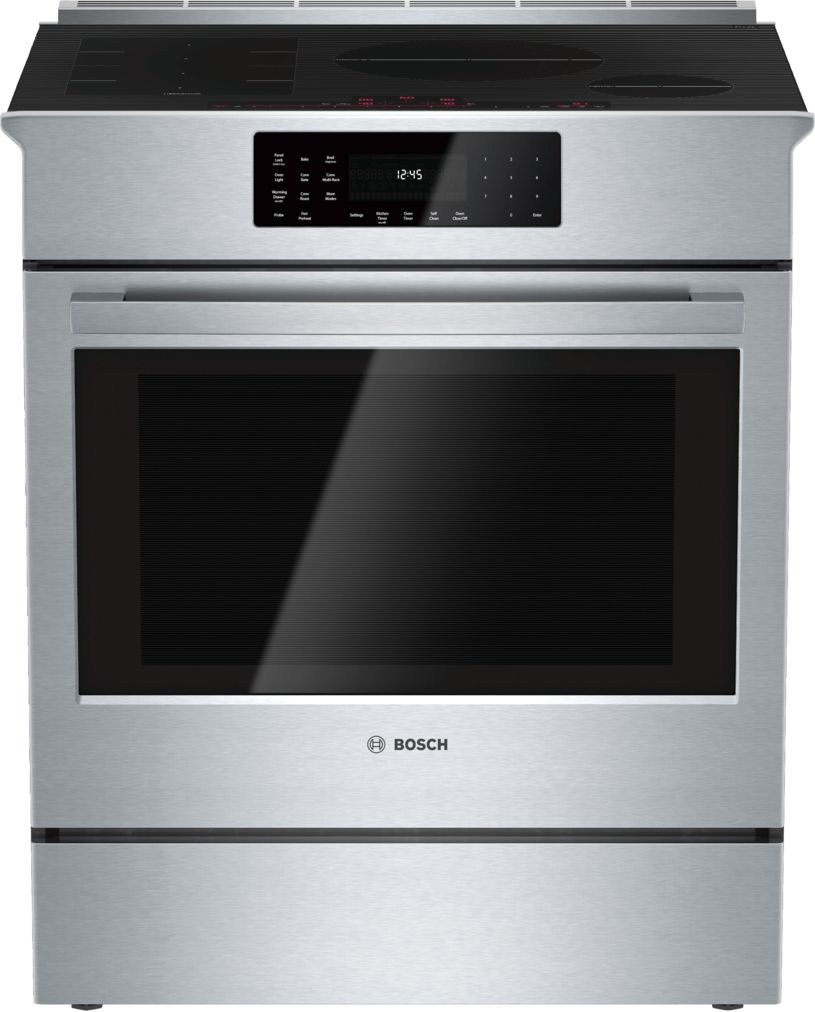 "Bosch Benchmark®30"" Induction Slide-in Range, HIIP055U, Stainless Steel"