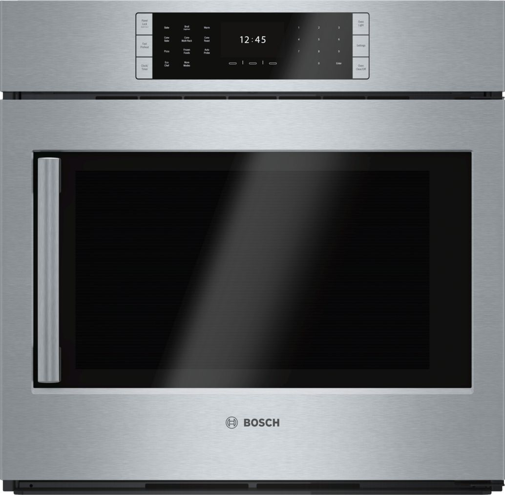 "Bosch Benchmark®30"" Single Wall Oven Right SideOpening Door, HBLP451RUC, Stainless Steel"