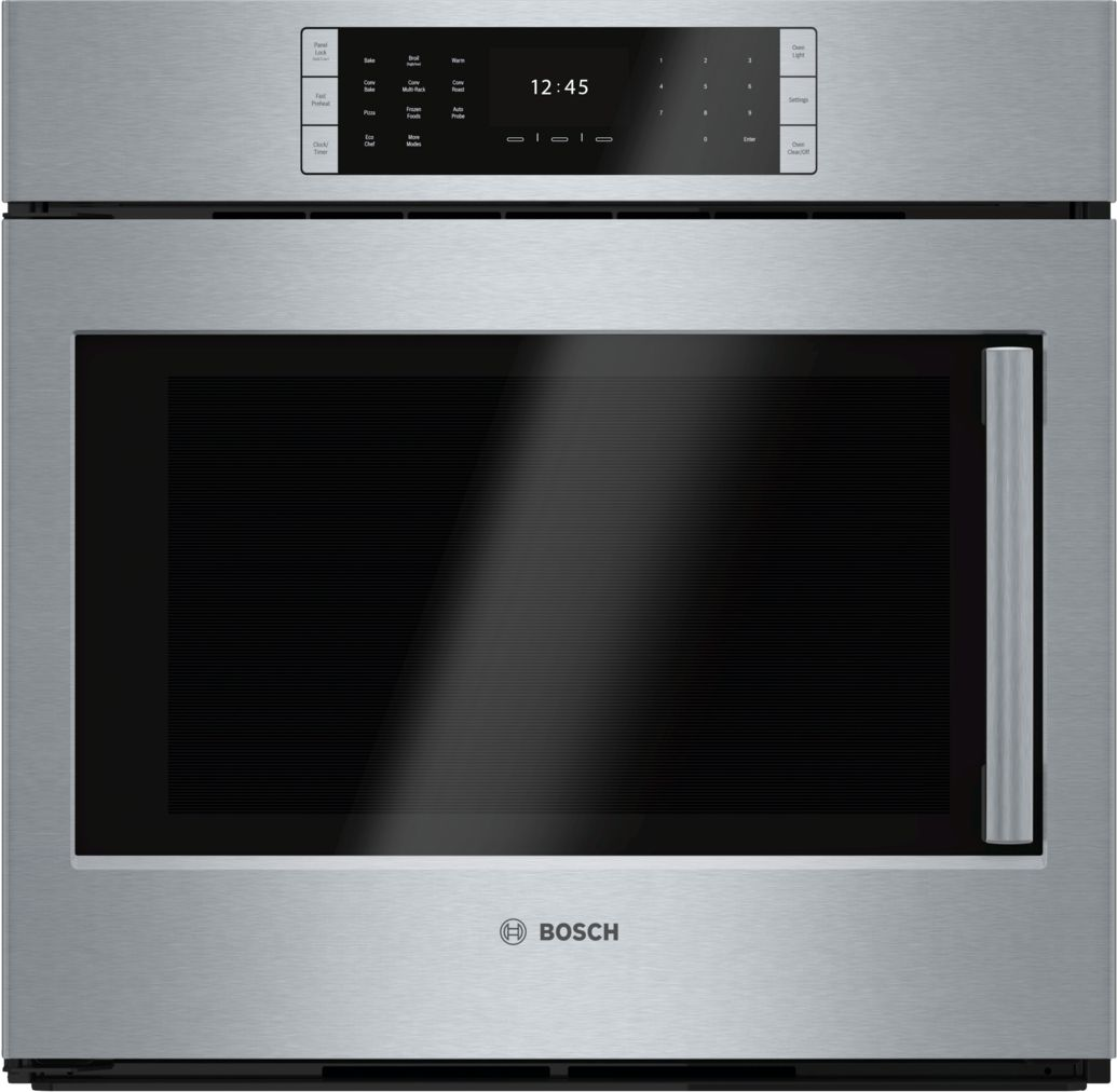 "Bosch Benchmark®30"" Single Wall Oven Left SideOpening Door, HBLP451LUC, Stainless Steel"