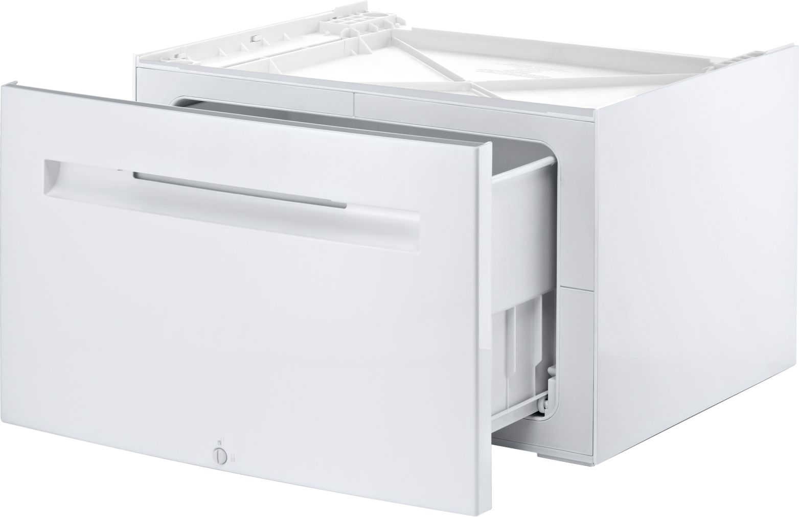 "Model: WMZ20490 | Bosch WMZ20490Platform with pull-out24"" Compact Washer"