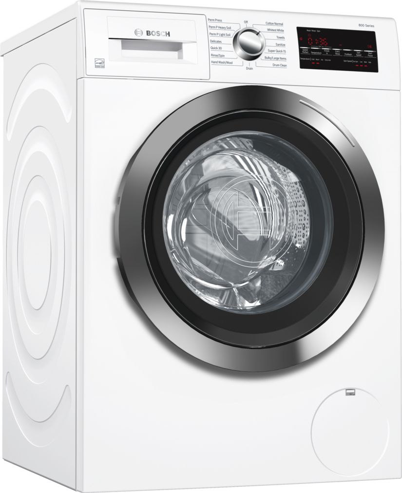 "Bosch 24"" Compact Washer, WAT28402UC, White/Chrome"