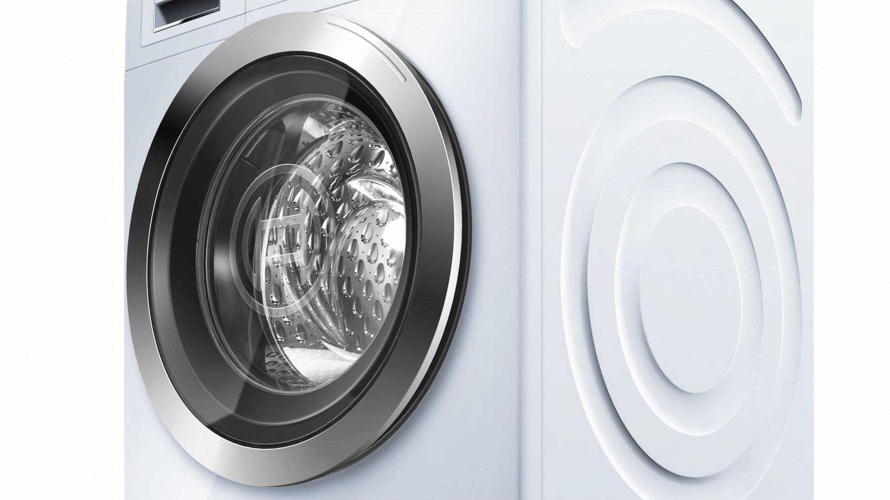 "Model: WAT28402UC | Bosch 24"" Compact Washer, WAT28402UC, White/Chrome"