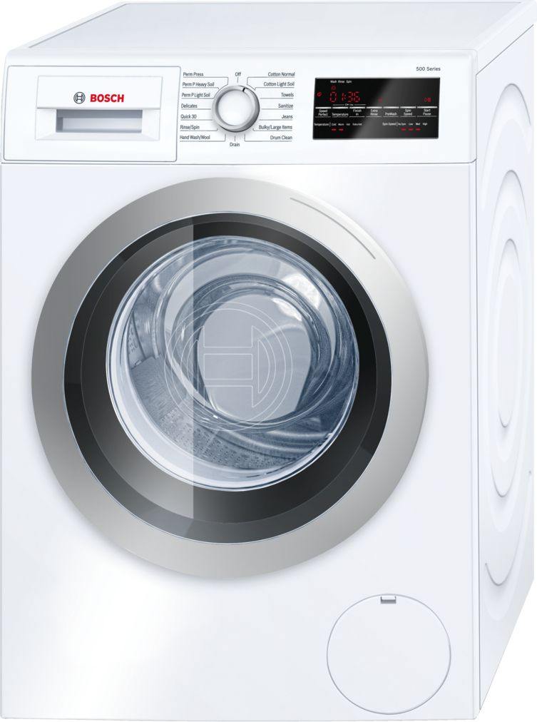 "Bosch 24"" Compact Washer, WAT28401UC, White/Silver"