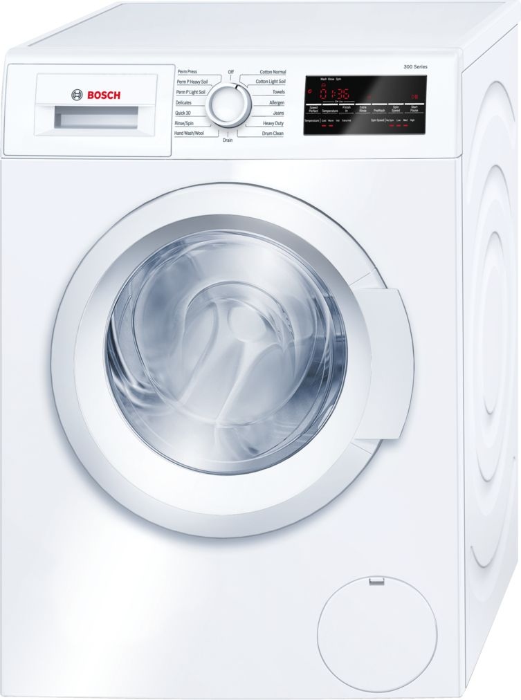 "Bosch 24"" Compact Washer, WAT28400UC, White/White"