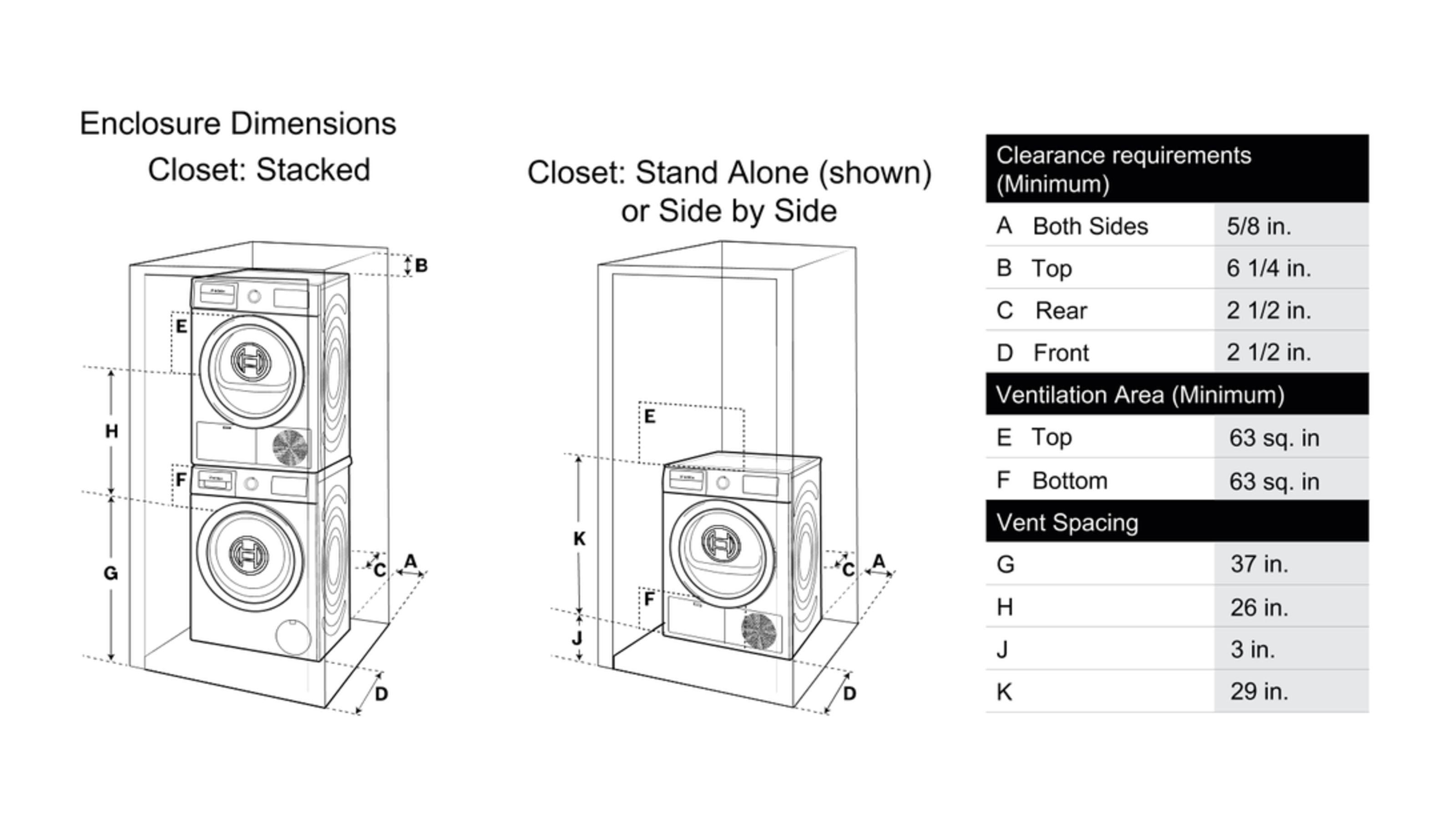 "Model: WAT28400UC | Bosch 24"" Compact Washer, WAT28400UC, White/White"