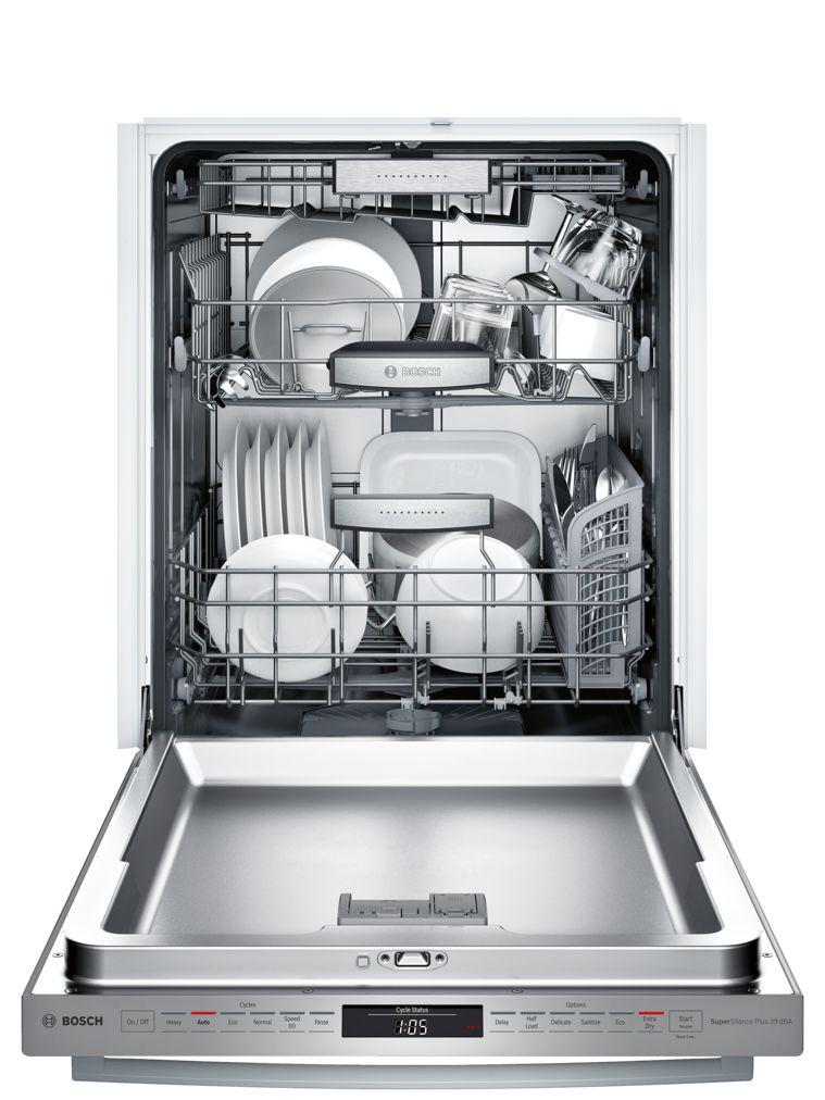 "Model: SHXM98W75N | Bosch 800 Series 24"" Bar Handle Dishwasher SHXM98W75N  Stainless steel"