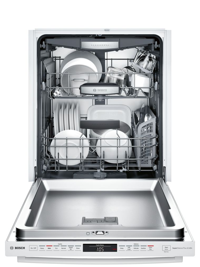 "Model: SHXM78W52N | Bosch 800 Series24"" Bar Handle DishwasherSHXM78W52NWhite"