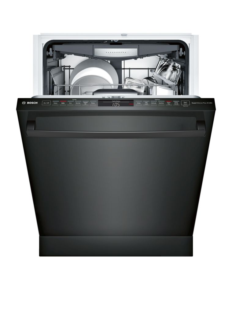 "Model: SHX878WD6N | Bosch 800 Series24"" Bar Handle DishwasherSHX878WD6NBlack"