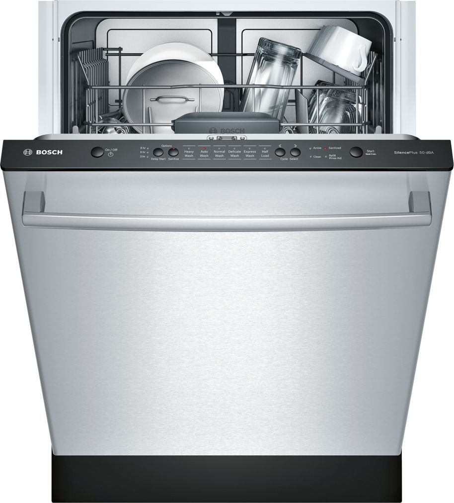 "Model: SHX3AR75UC | Bosch Ascenta®24"" Bar Handle Dishwasher SHX3AR75UC - Stainless steel"