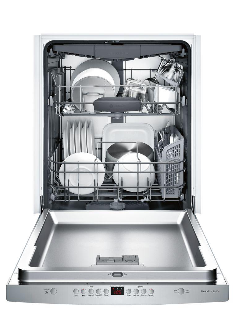 "Model: SHSM63W55N | Bosch 300 Series24"" Scoop Handle DishwasherSHSM63W55NStainless steel"