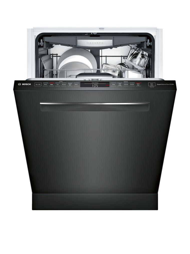 "Model: SHPM78W56N | Bosch 800 Series24"" Pocket Handle DishwasherSHPM78W56NBlack"