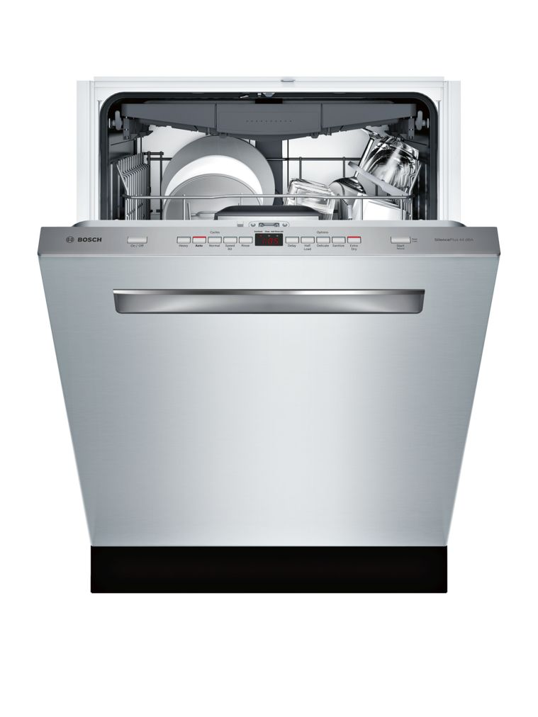 "Model: SHPM65W55N | Bosch 500 Series24"" Pocket Handle DishwasherSHPM65W55NStainless steel"