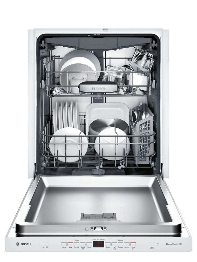 "Model: SHPM65W52N | Bosch 500 Series24"" Pocket Handle DishwasherSHPM65W52NWhite"