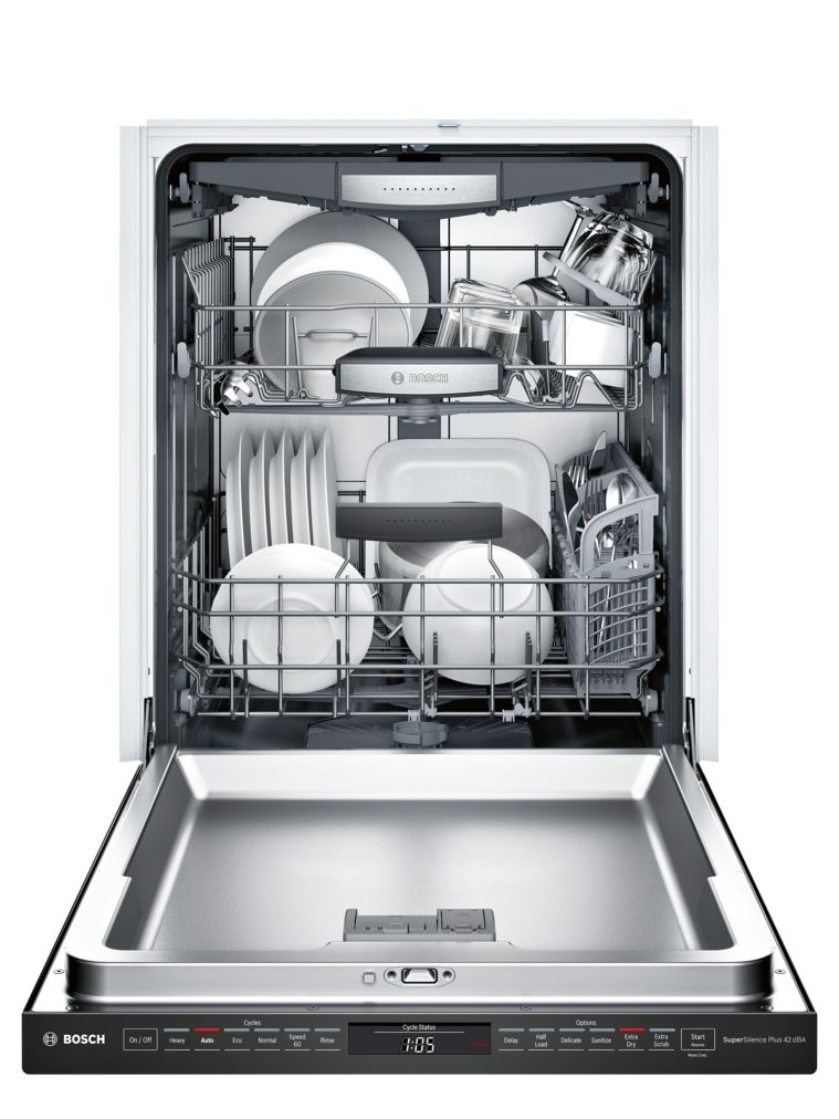 "Model: SHP878WD6N | Bosch 800 Series24"" Pocket Handle DishwasherSHP878WD6NBlack"
