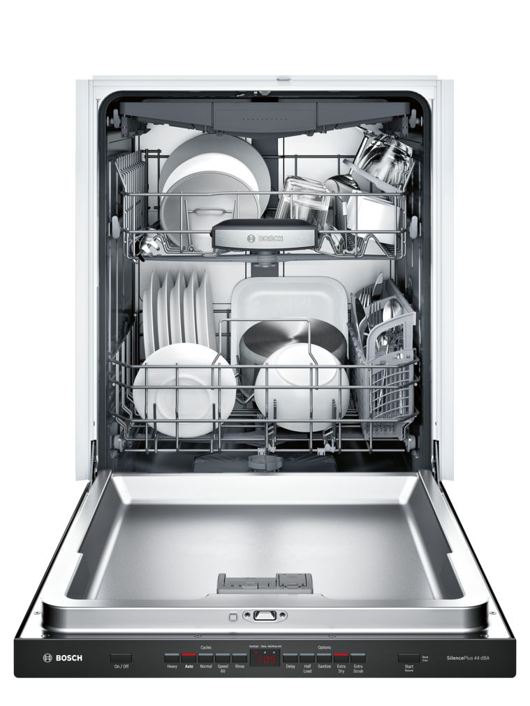 "Model: SHP865WD6N | Bosch 500 Series24"" Pocket Handle DishwasherSHP865WD6NBlack"