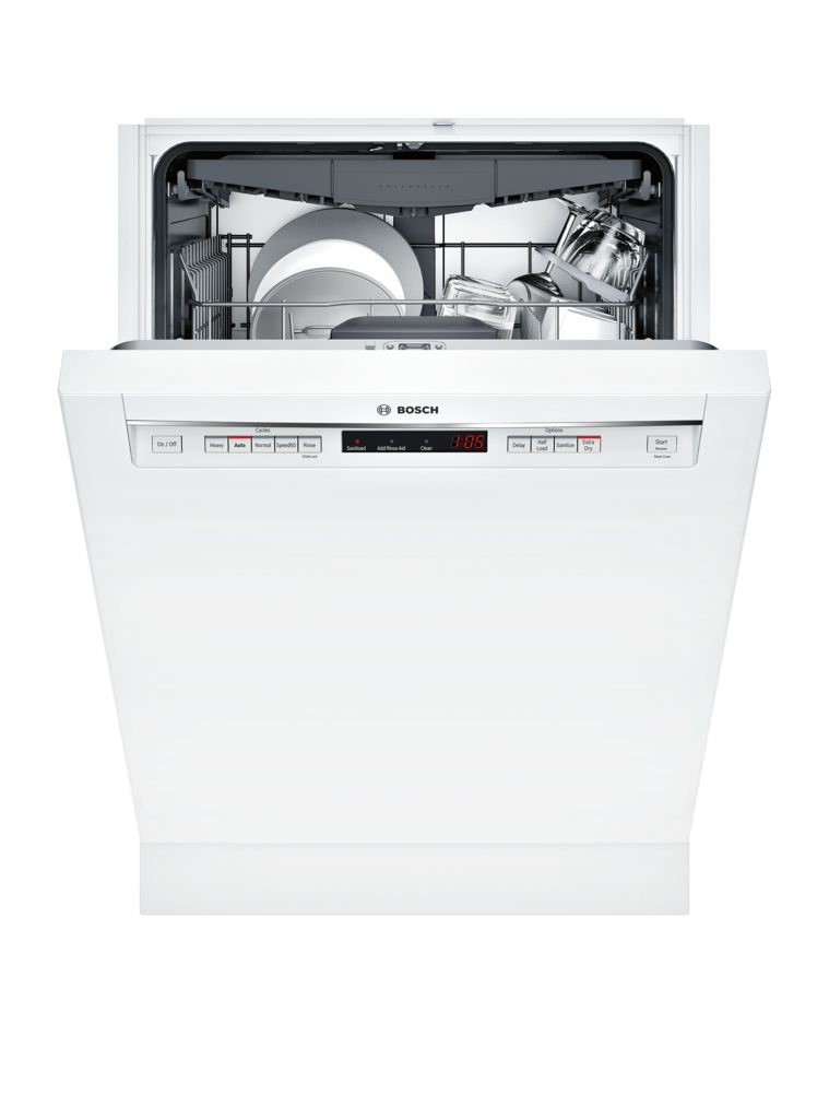"Model: SHEM63W52N | Bosch 300 Series24"" Recessed Handle DishwasherSHEM63W52NWhite"