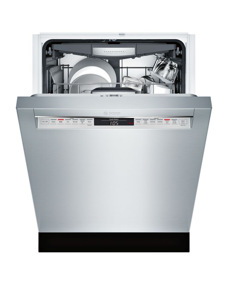"Model: SHE878WD5N | Bosch 800 Series24"" Recessed Handle Dishwasher"