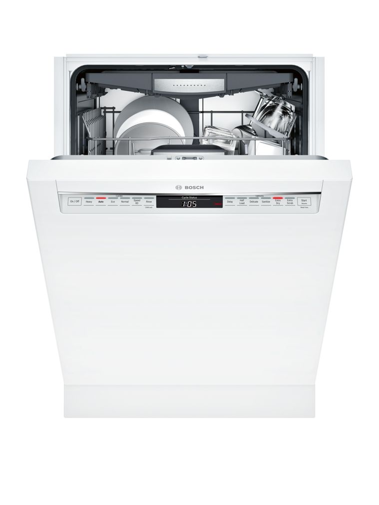 "Model: SHE878WD2N | Bosch 800 Series24"" Recessed Handle DishwasherSHE878WD2NWhite"
