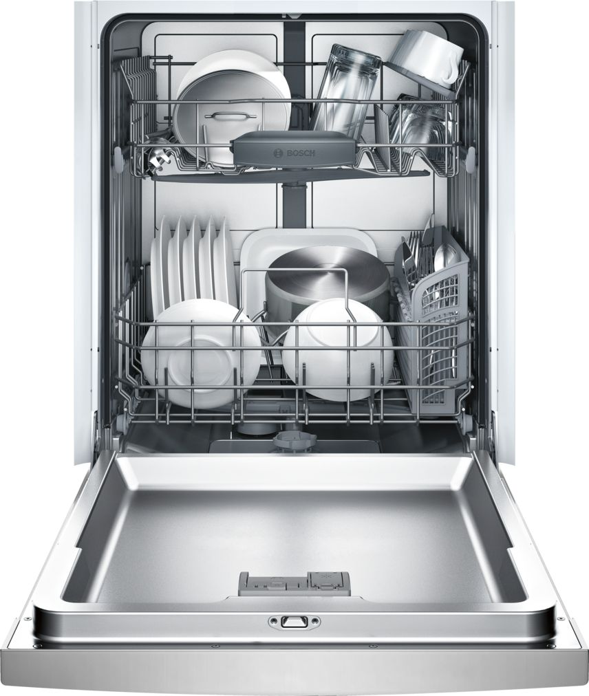 Model: SHE3AR75UC | Bosch Ascenta®24 '' Recessed Handle DishwasherSHE3AR75UC - Stainless steel