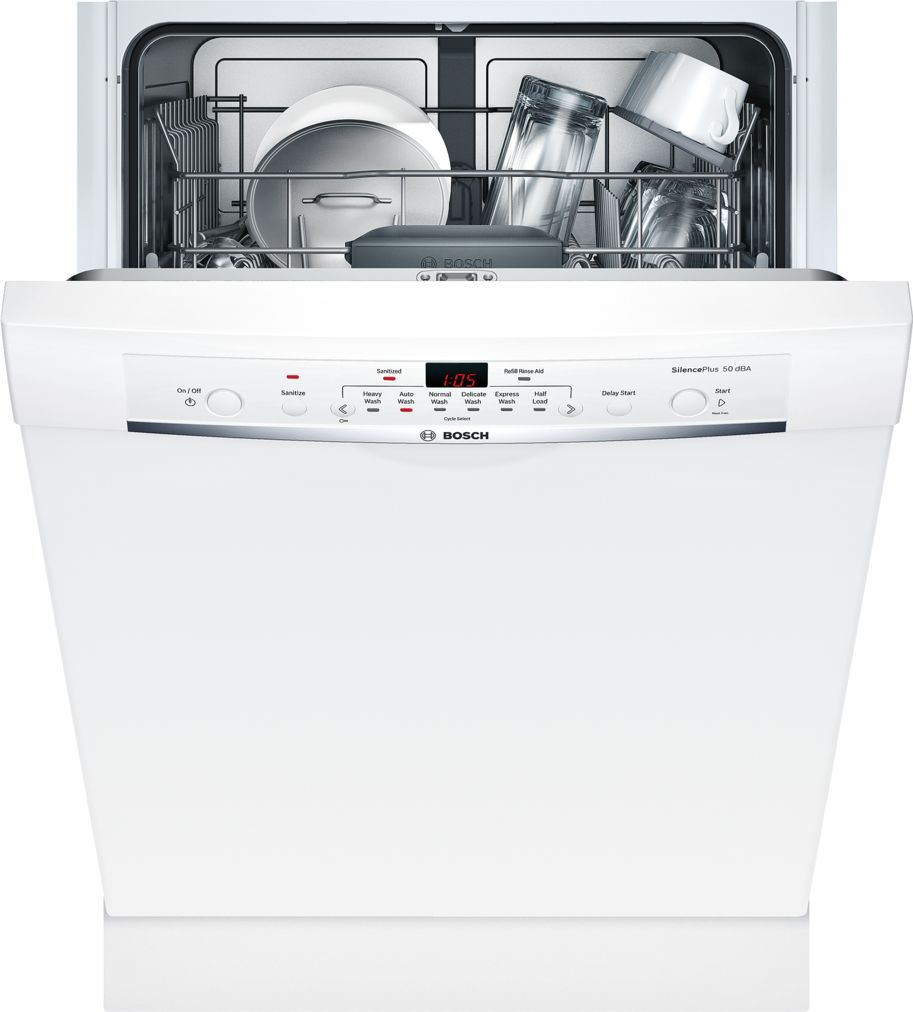 Model: SHE3AR72UC | Bosch Ascenta®24 '' Recessed Handle DishwasherSHE3AR72UC - White