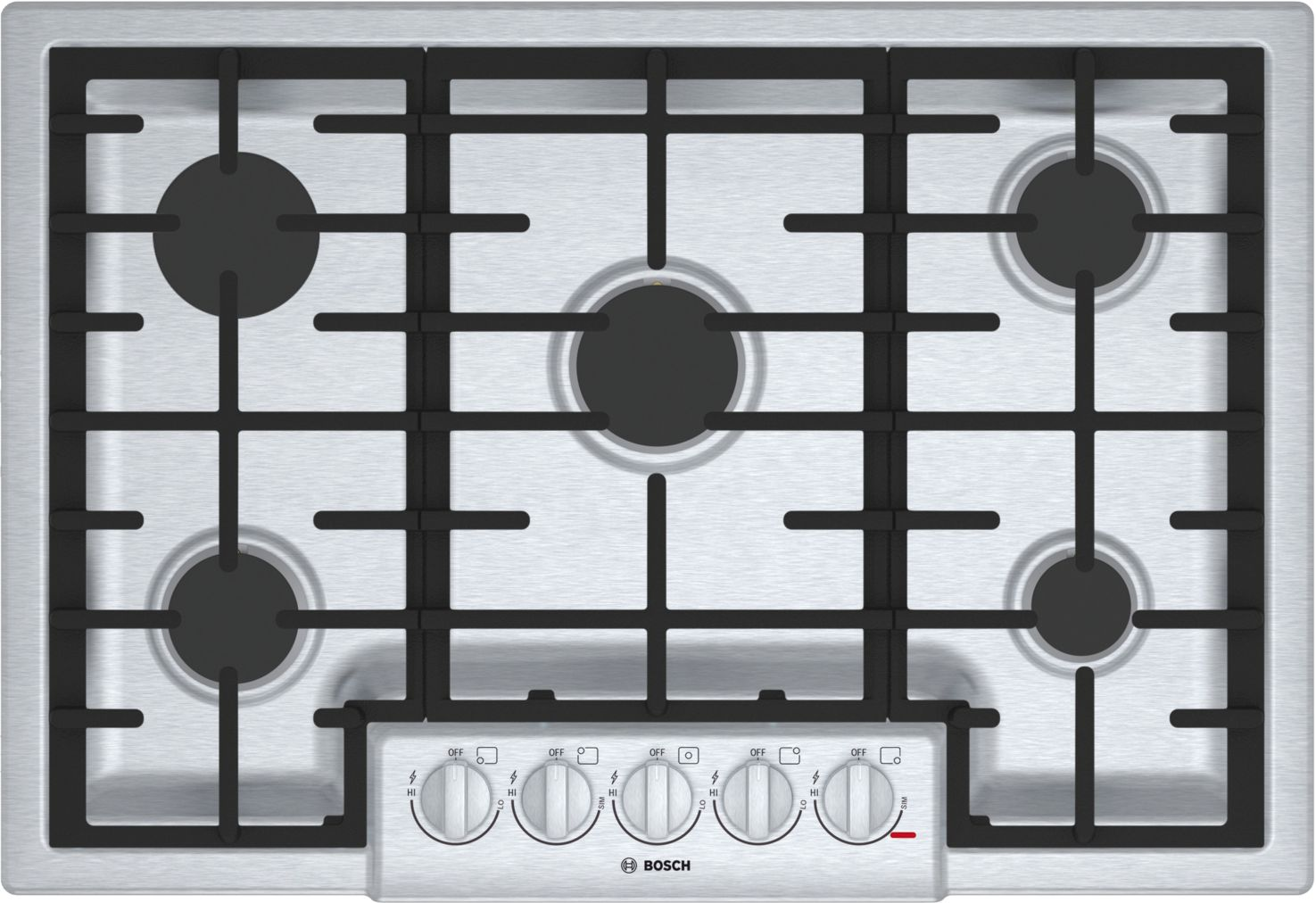 "Bosch 800 Series30"" 5 Burner Gas Cooktop, NGM8056UC, Stainless Steel"