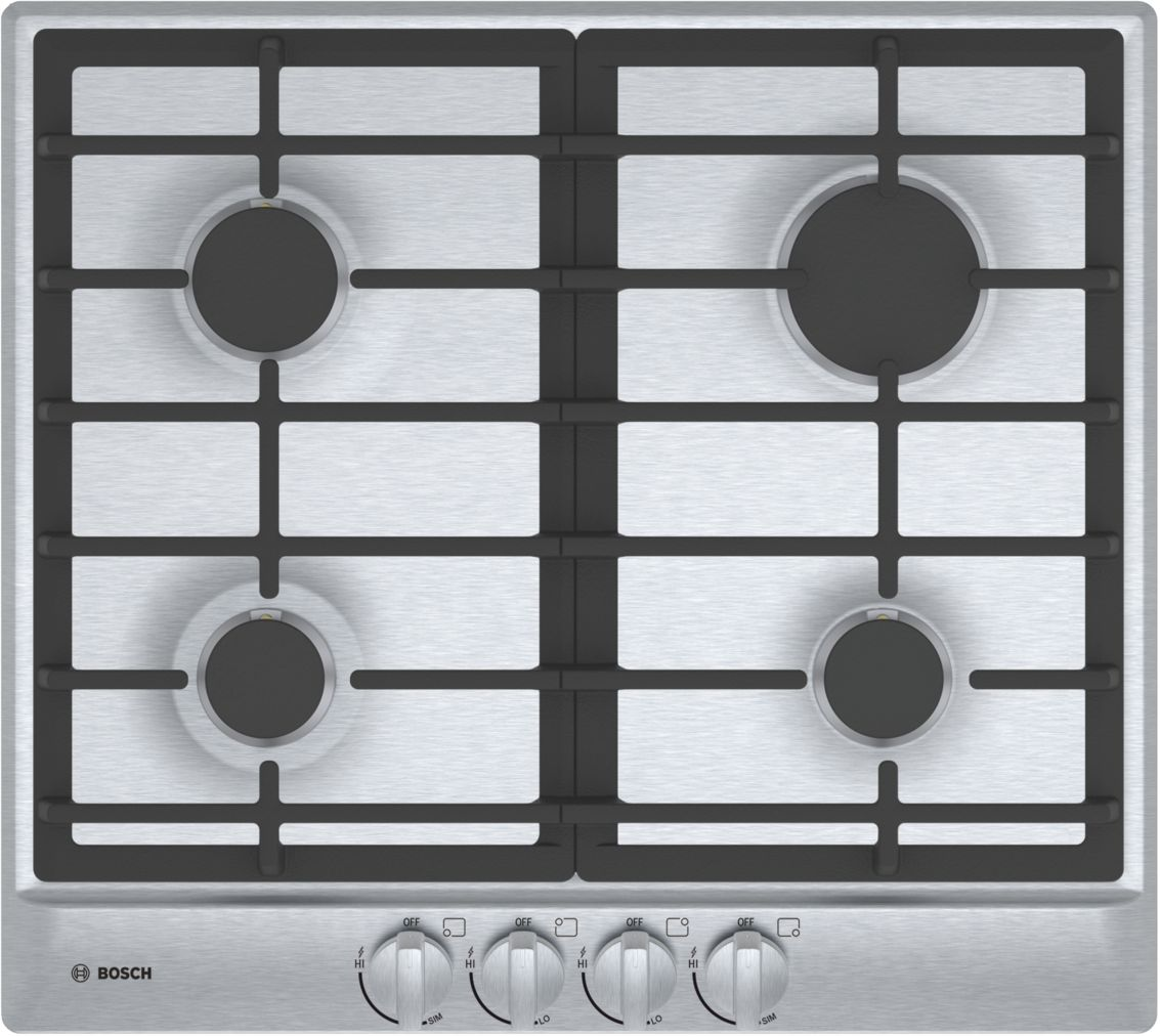 "Bosch 500 Series24"" 4 Burner Gas Cooktop, NGM5456UC, Stainless Steel"