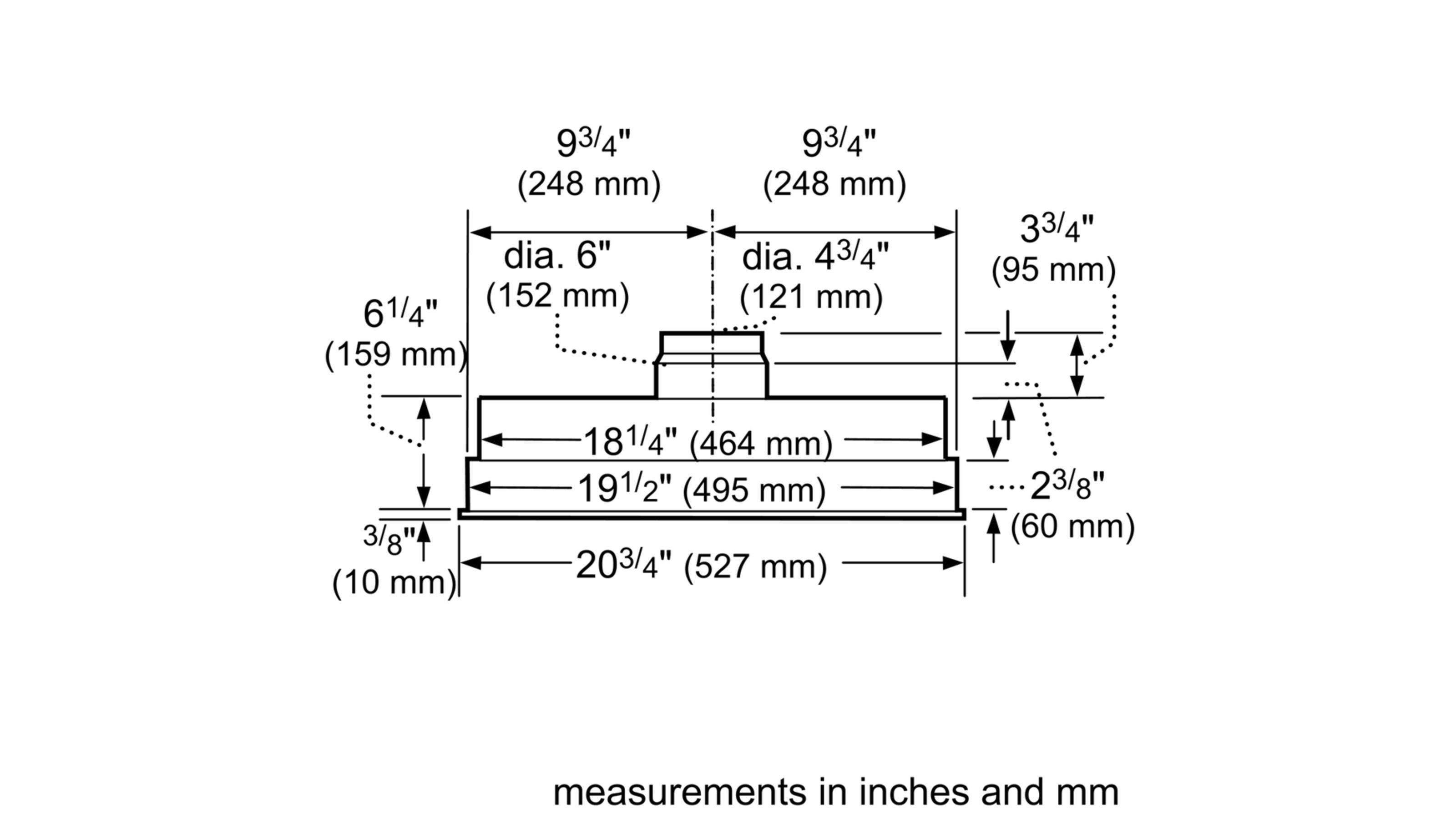 "Model: HUI31451UC | Bosch 300 Series21"" Custom Insert Hood, 400 CFM, HUI31451UC, Stainless Steel"