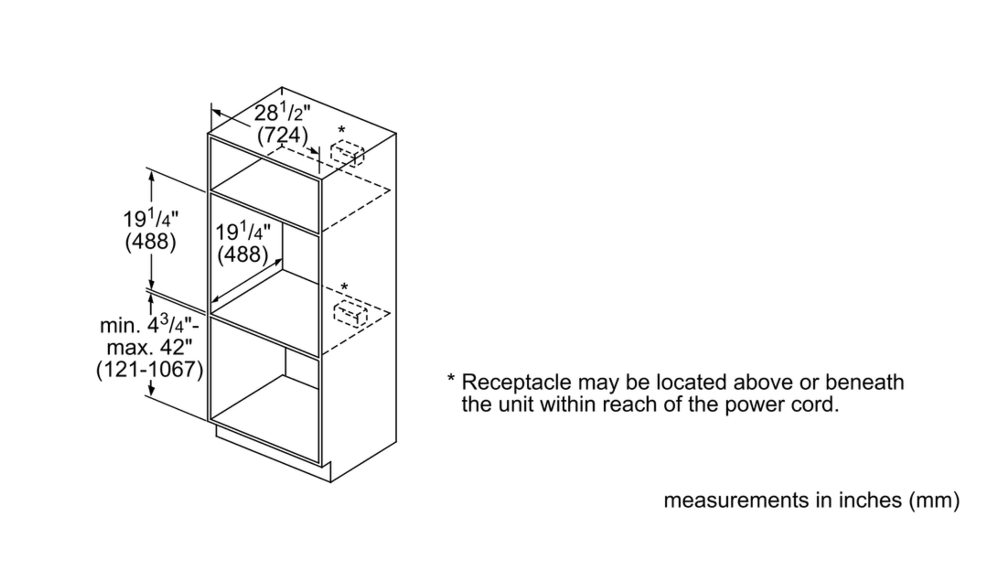 "Model: HMB50162UC | Bosch 500 Series30"" Built-In Microwave Oven, HMB50162UC, Black"