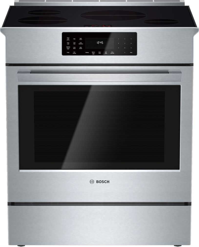 "Bosch 800 Series30"" Induction Slide-in Range, HII8055U, Stainless Steel"